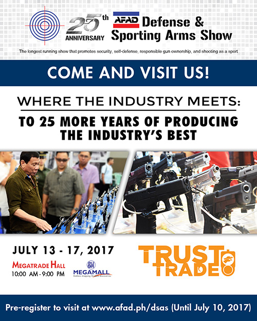 25th Anniversary AFAD Defense & Sporting Arms Show  @Megamall